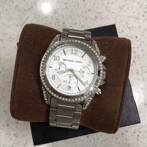 Michael Kors silver women's watch with box